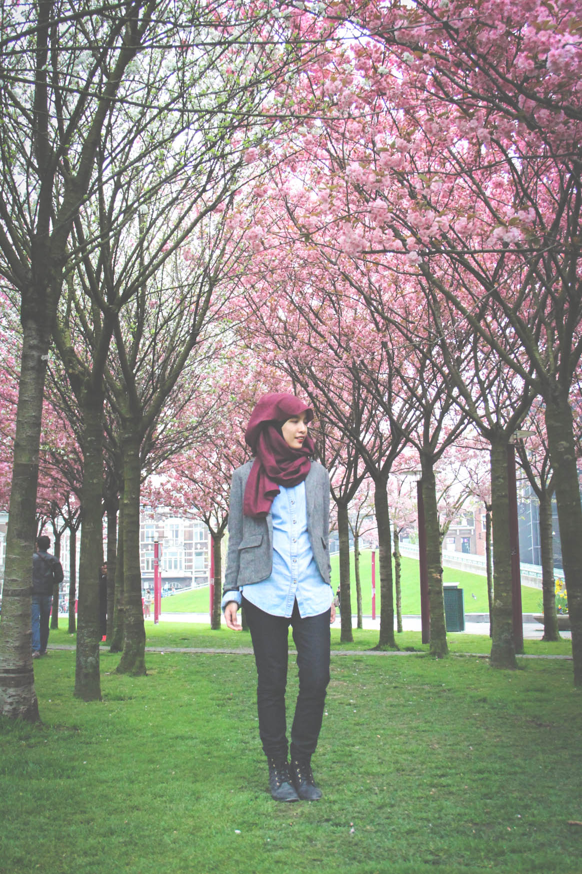 Chambray, Denim, Spring, Hijabi, Fashion, Style, Fashion blogger, style blog, hijabi blogger, tudung, tweed, holland, amsterdam, travel